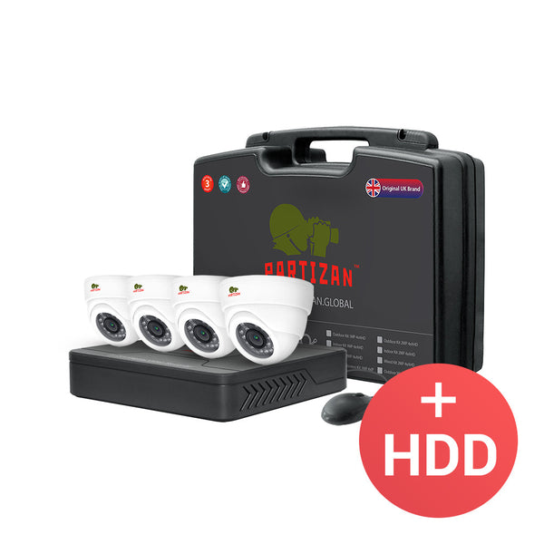 2.0MP Indoor set AHD-22 <br> 4xCAM + 1xDVR + HDD