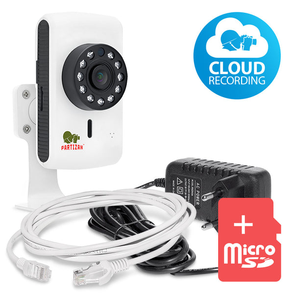 1.0 MP Indoor set IP-11<br>Cube camera + SD card