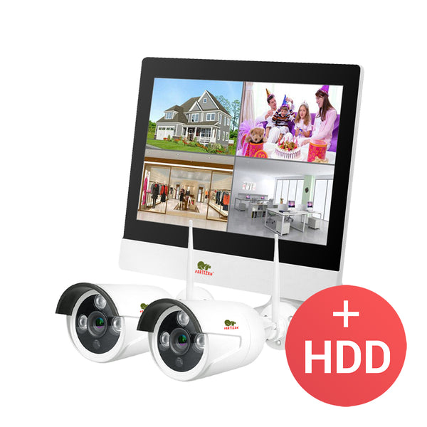 1.0MP Outdoor LCD Wi-Fi set IP-30<br>2xCAM + 1xNVR + HDD