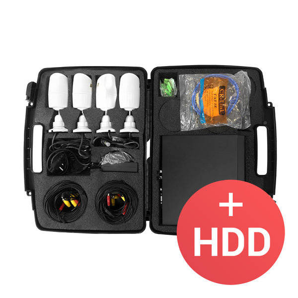 1.0MP Outdoor set AHD-5 <br>4xCAM + 1xDVR + HDD