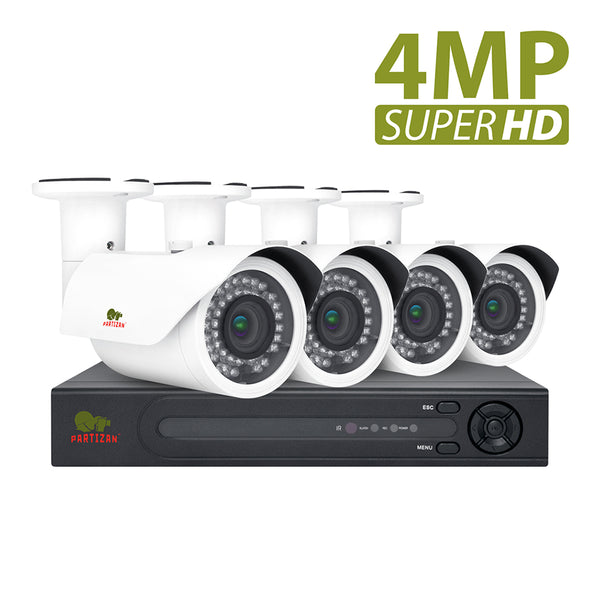 4.0MP Outdoor set PRO AHD-117<br>4xCAM + 8-ch DVR