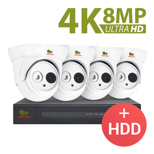 8.0MP (4K) Indoor set IP-41<br>4xCAM + 1xNVR