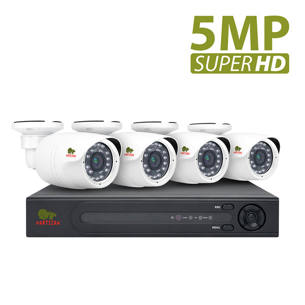 5.0MP Outdoor set IP-43<br>4xCAM + 1xNVR