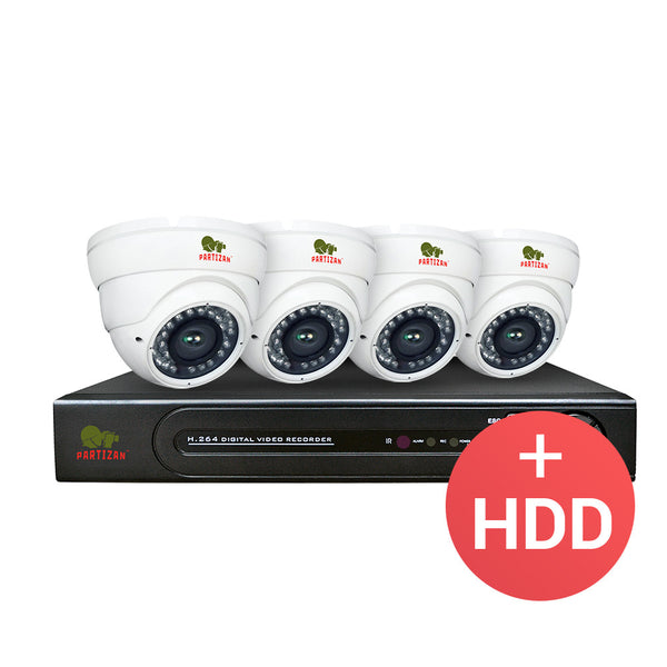 3.0MP Indoor set PRO AHD-30<br>4xCAM + 1xDVR + HDD