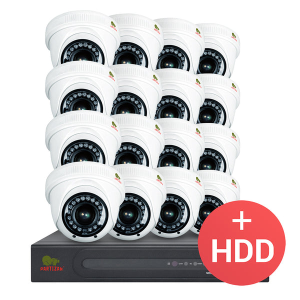 1.0MP Indoor set PRO AHD-44<br>16xCAM + 1xDVR