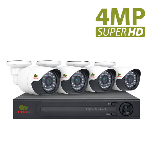 4.0MP Outdoor set AHD-120<br>4xCAM + 1xDVR