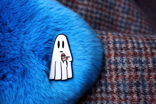 Ghost with an Ice Cream Pin