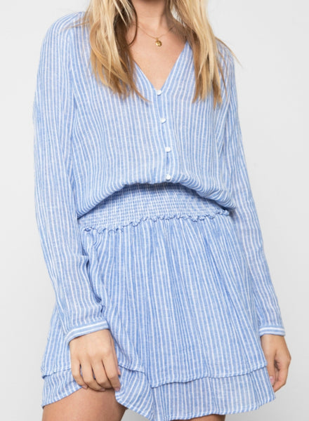 Rails jasmine azure stripe dress