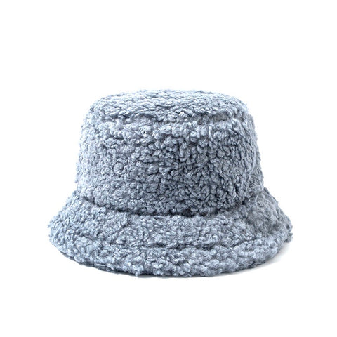 TEDDY BUCKET hat I GREY BLUE