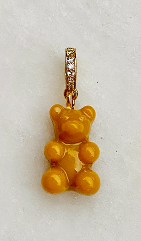 Zuzanna G CLASSIC YUMMY BEAR CRYSTAL RING gold, SALT CARAMEL
