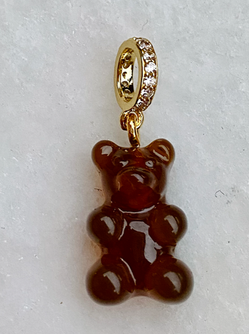 Zuzanna G CLASSIC YUMMY BEAR CRYSTAL RING gold, COCA COAL BROWN