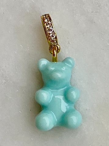 Zuzanna G CLASSIC YUMMY BEAR CRYSTAL RING gold, AQUA SKY