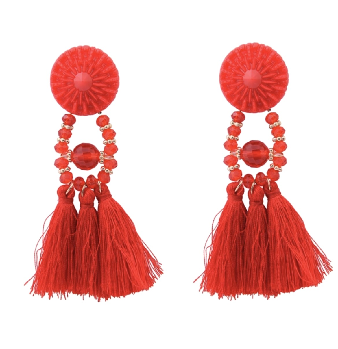 Three Kings Tassel Earing
