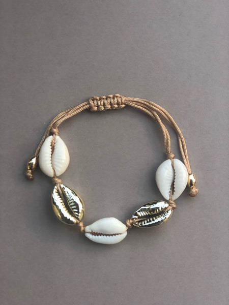 Vacay Shell armbånd, TWO GOLD