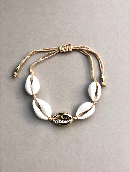 Vacay Shell armbånd, ONE GOLD