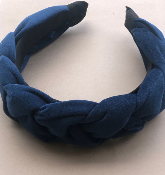 Padded Braided Smooth Velvet Hairband