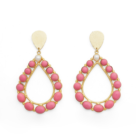 DROPS FROM MY BATHTUB  EARINGS fra Miss Mathiesen I PINK