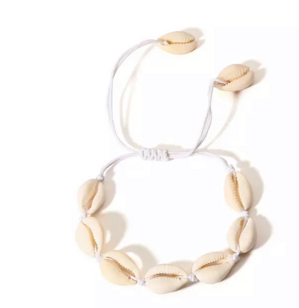 Vacay Shell armbånd, ALL NATUR SHELL WHITE