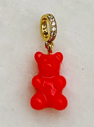 Zuzanna G CLASSIC YUMMY BEAR CRYSTAL RING gold, STRAWBERRY RED