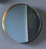 ROUND BLACK & GOLD MIRROR