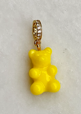 Zuzanna G CLASSIC YUMMY BEAR CRYSTAL RING gold, YELLOW OPAL