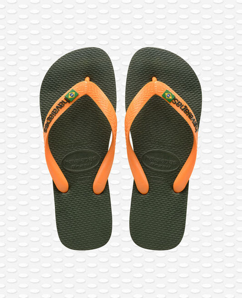 Havaiamas Brazil Logo i Green / V Orange
