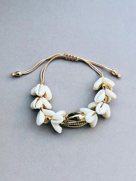 Chubby Shell Bracelet , ONE BIG GOLD