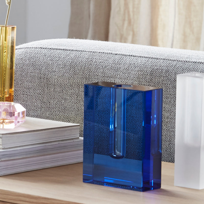 Crystal Floating Vase, Blue