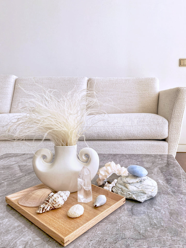 FEATHER GRASS WITH ORNAMENT VASE (FLOWER+VASE BUNDLE SET)