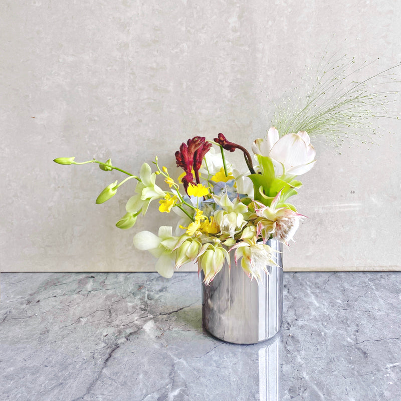 ALL GOLD / SILVER STAINLESS STEEL TUMBLER VASE