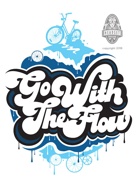 """Go with the flow"" by Benny Hay"