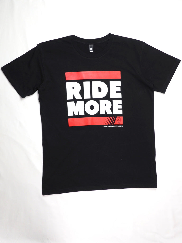"Headset ""Ride More"" T shirt Black"