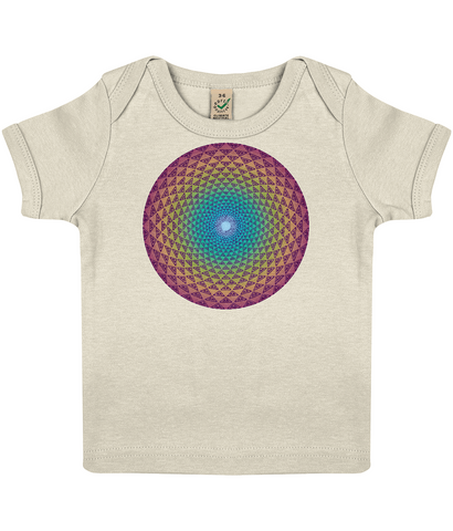 Organic Baby Lap T-shirt - Cosmic Crown