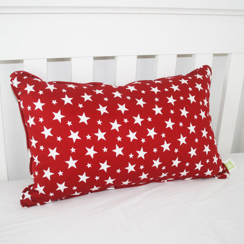 Red with White Stars Cushion