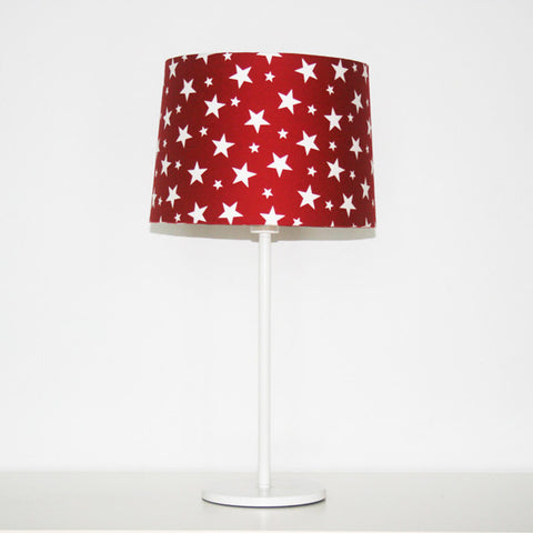 Red with white stars lampshade