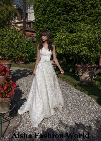 AFW Veronika Handmade Lace Wedding Dress - aishafashionworld