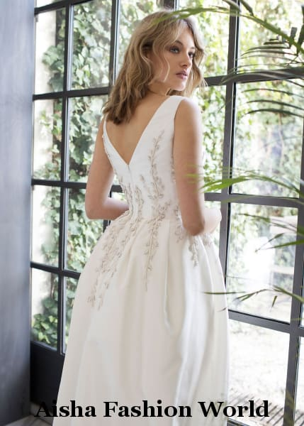 Aisha Fashion World Serenata Detailed Wedding Dress - aishafashionworld