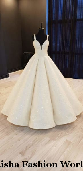 Aisha Fashion World Sheikha Sleeveless wedding dress - aishafashionworld
