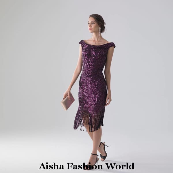 Glam Glitter Party Dress - aishafashionworld
