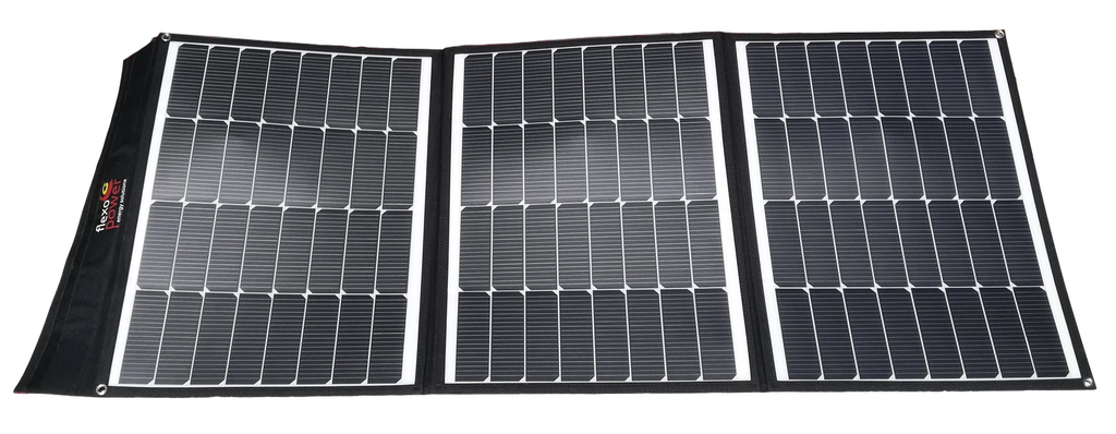 The new Mojave-150W foldable solar panel by Flexopower