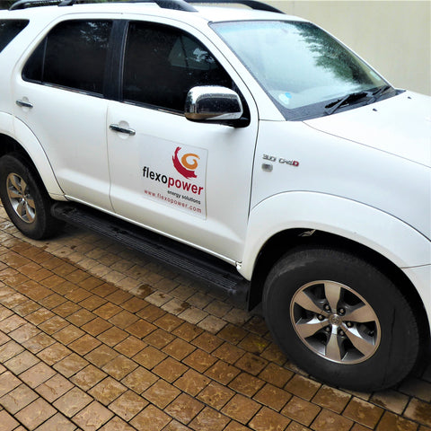 Toyota Fortuner in the rain