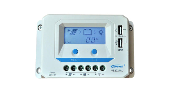 MOJAVE220 - 20A REGULATOR WITH LCD DISPLAY - CAMPING SOLAR KIT BY FLEXOPOWER, 220W