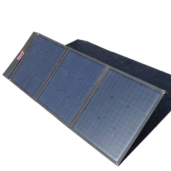 COMBO BAJA 105W FOLDABLE SOLAR PANEL & LITHIUM444 POWER PACK BY FLEXOPOWER