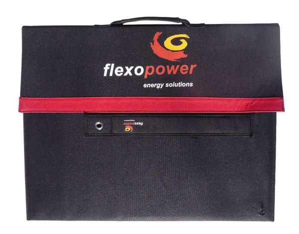 BAJA105 - 20A REGULATOR WITH LCD DISPLAY - CAMPING SOLAR KIT BY FLEXOPOWER, 105W