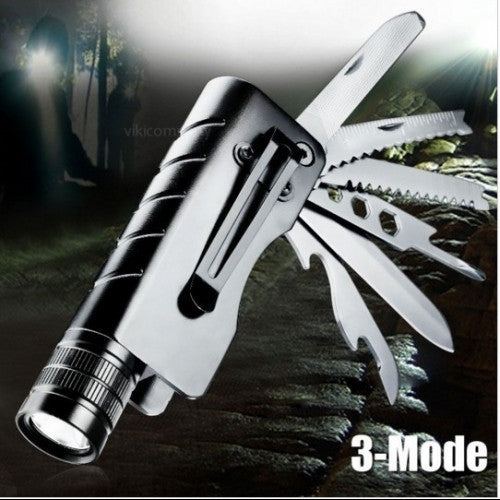 Rechargeable LED Flashlight Multifunctional Knife