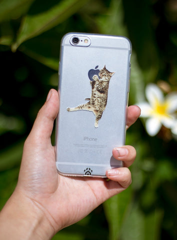 Apple Eating Cat Phone Case