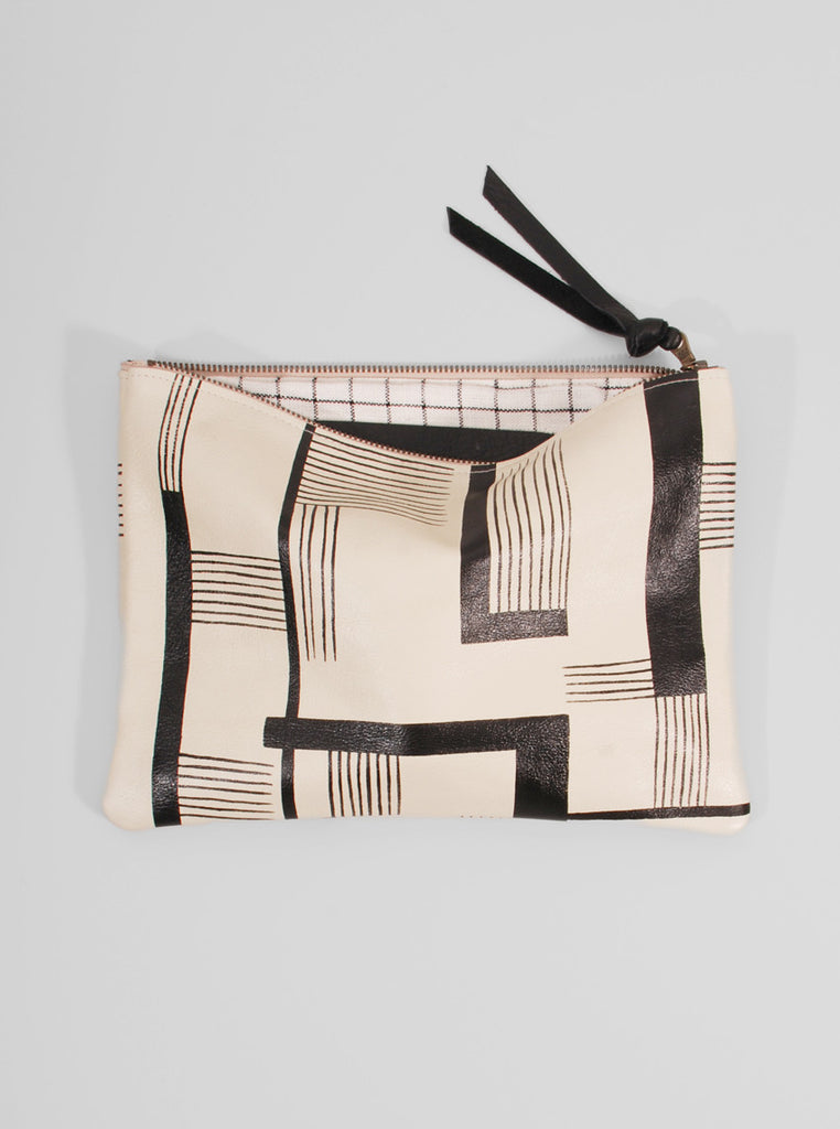 Leather Clutch Modern Art, Jessica Kertis - Northernism