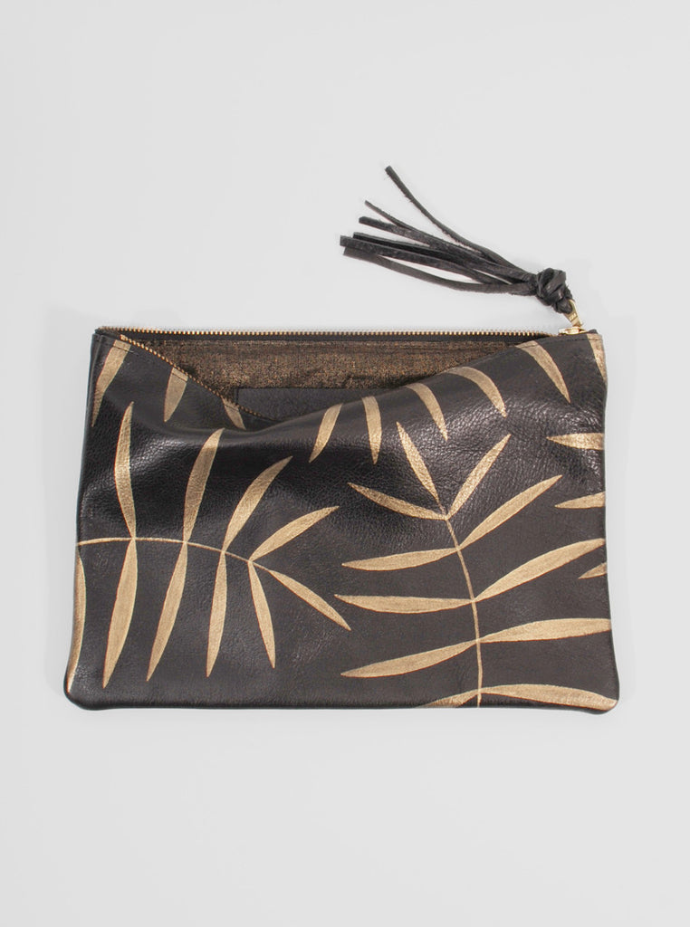 Leather Clutch Golden Palm, Jessica Kertis - Northernism