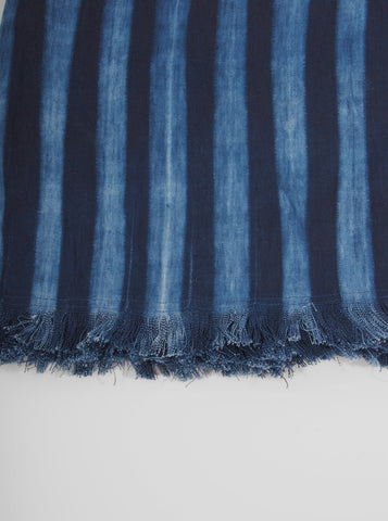 Striped Indigo Table Throw (dark), Tensira - Northernism