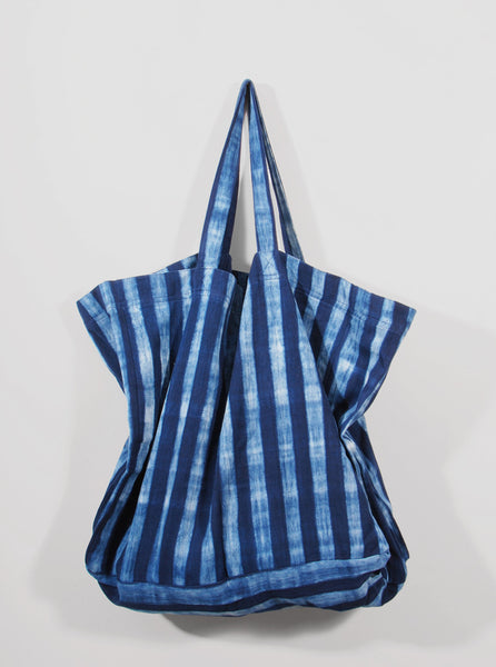 Striped Indigo Tote Bag (dark), Tensira - Northernism